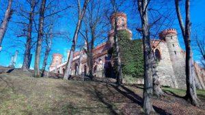 Ząbkowicki zamek z drogi wejściowej